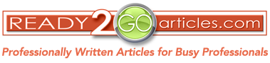 Ready2GoArticles - Professionally written articles for busy professionals